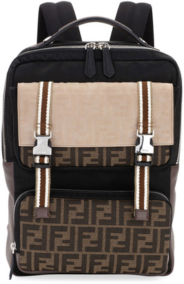 Fendi Men's FF Logo Explorer Backpack