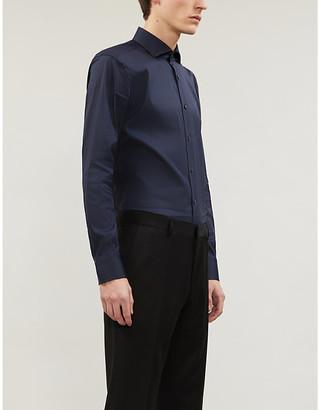 Boss Black Formal Hugo Boss Slim-fit cotton-blend shirt