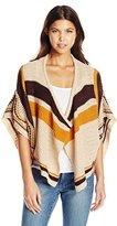 Derek Heart Junior's Jacquard Poncho Sweater