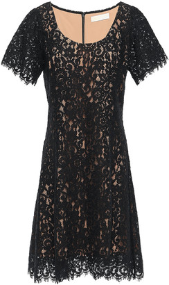 MICHAEL Michael Kors Cotton-blend Corded Lace Mini Dress