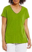 Eileen Fisher V-Neck Short Sleeve Top