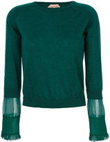 No.21 crew neck jumper - women - Silk/Virgin Wool - 40