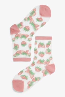 Monki Transparent socks