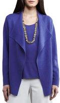 Eileen Fisher Silk-Interlock Cascade Jacket, Iris, Plus Size