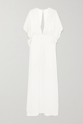 Temperley London Cape-effect Silk-satin Gown