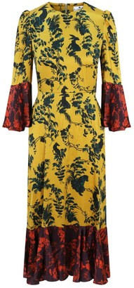 Klements Netil Dress In Garden Puppets Print