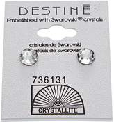 Crystallite Crystal Crown Earring