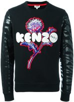 Kenzo dandelion and tiger stripes sweatshirt
