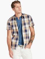 Lucky Brand Madras Shirt Sleeve
