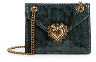 Dolce & Gabbana Medium Snakeskin Devotion Shoulder Bag