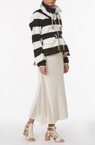 Derek Lam Long Skirt w/ Mesh Inserts