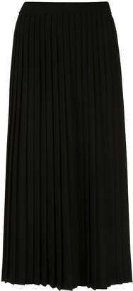 Prada Logo Pleated Skirt