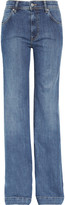 Milan mid-rise flared jeans