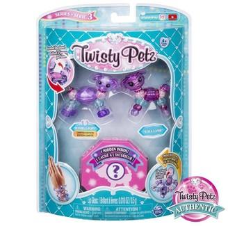 Twisty Pets Twisty Petz 3-Pack Unigloss Puppy Lamb otter