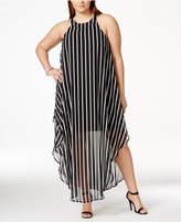 Love Squared Plus Size Striped Maxi Shift Dress