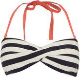 Ted Baker Parasol stripe bandeau bikini top