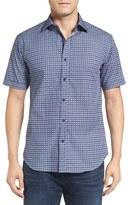 Bugatchi Men's Shaped Fit Graphic Sport Shirt