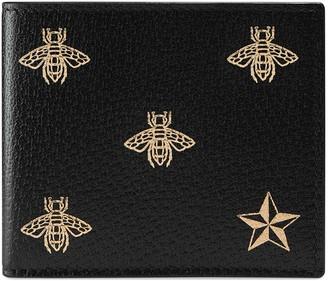 Gucci Bee Star leather bi-fold wallet
