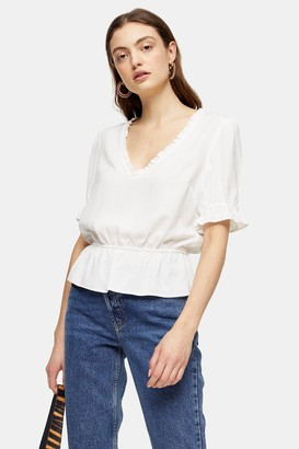 Topshop Ivory Tea Blouse