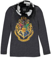 "Harry Potter Big Girls' ""Hogwarts Crest"" L/S Top with Scarf"