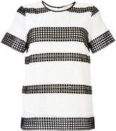 MICHAEL Michael Kors stripe panel T-shirt