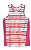 Classic Toddler Girls Racerback Tank-Light Cantaloupe Stripe