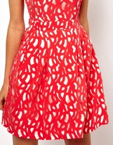 Asos Exclusive Lasercut Dress With Cut Out Back