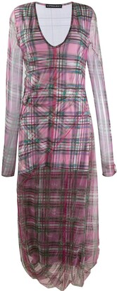Y/Project Long-Sleeve Plaid Dress