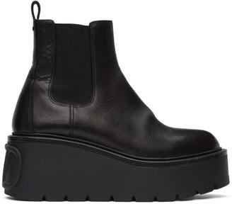 Valentino Black Garavani VLogo Platform Boots