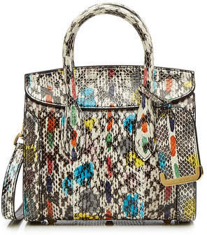Alexander McQueen Mini Heroine 21 Snakeskin Shoulder Bag