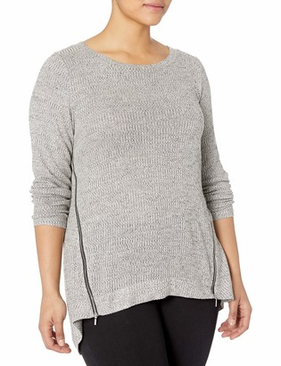 Rachel Roy Women's Plus Size Long Sleeve Zip Front