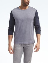 Banana Republic Luxury-Touch Heather Long-Sleeve Crew