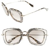 Miu Miu Women's 52Mm Glitter Sunglasses - Marble White/ Black