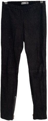 Anine Bing Black Suede Trousers for Women