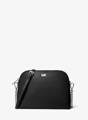 Michael Kors Large Crossgrain Leather Dome Crossbody Bag
