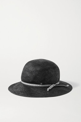 Maison Michel Kendall Straw Hat - Black