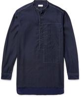 Dries Van Noten Grandad-Collar Linen and Cotton-Blend Shirt