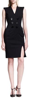 Altuzarra Broome Double-Breasted Belt-Back Dress