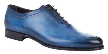 Stemar Hand Painted Leather Oxford Shoe