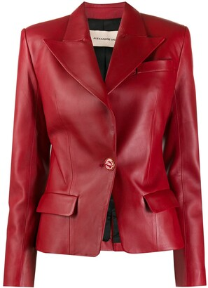 Alexandre Vauthier Single Breasted Leather Blazer