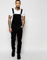 Asos Denim Overalls In Black