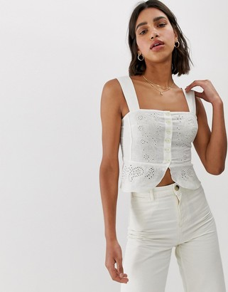 Free People I Want You bodice top-White