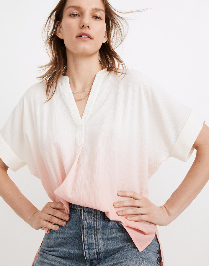 Thumbnail for your product : Madewell Dip-Dye Lakeline Popover Shirt in Stripe