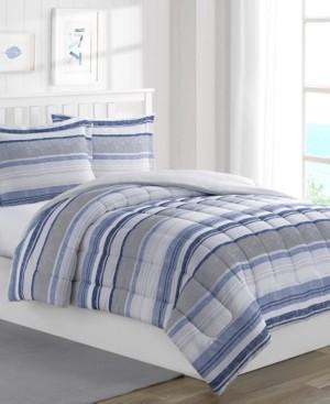 Mytex Chase Stripe 3-Piece Reversible Full Comforter Set Bedding