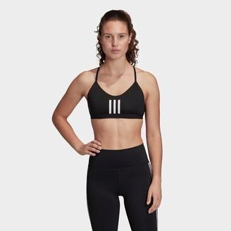adidas Women's All Me 3-Stripes Mesh Light-Support Sports Bra