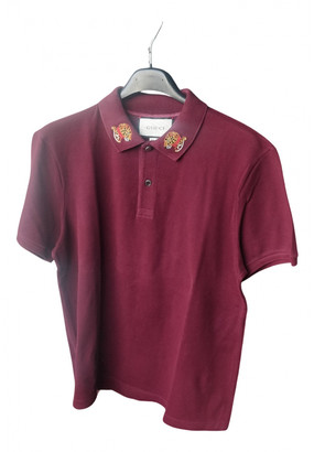 Gucci Burgundy Cotton Polo shirts