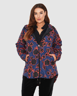 17 Sundays Floral Print Raincoat