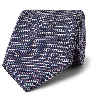 HUGO BOSS 7.5cm Silk-Jacquard Tie - Men - Purple