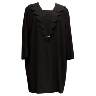Pierre Cardin Black Wool Dress for Women Vintage