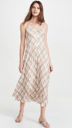 Vince Hazy Plaid Cami Dress